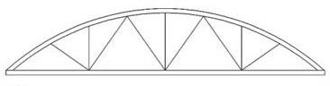 Изготовления арочных металлических ферм