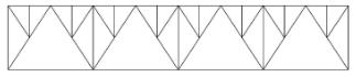 Шпренгельная решетка металлических ферм