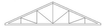 Изготовление треугольных двускатных металлических ферм