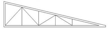 Изготовление треугольных односкатных металлических ферм