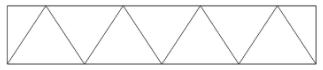 Треугольная решетка металлических ферм