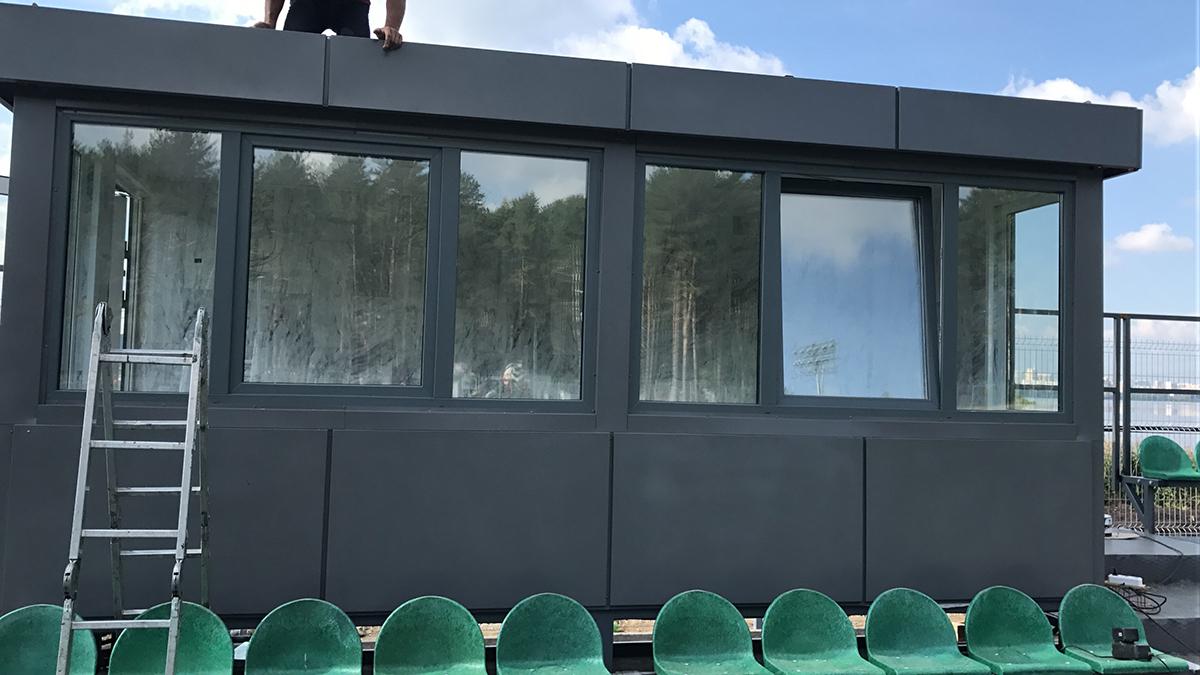 Комментаторская кабина для стадиона «Химмаш»